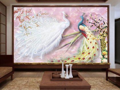 کاغذ دیواری پرنده زیبا