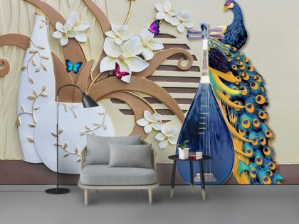 دانلود کاغذ دیواری گلدان مدرن