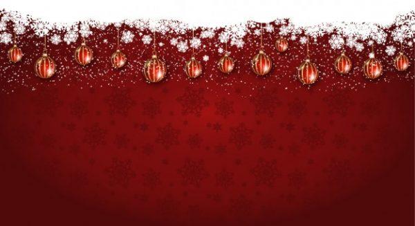 وکتور آماده دانلود پس زمینه کریسمس با گوی های چوبی آویز