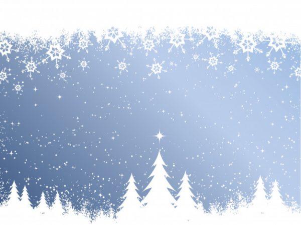 فایل آماده دانلود وکتور پس زمینه کریسمس جنگل برفی