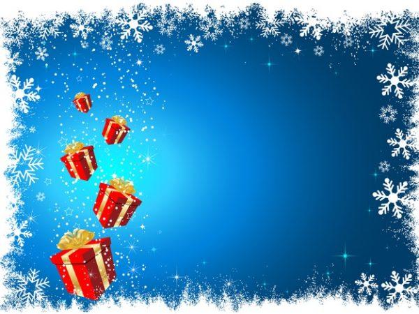 وکتور آماده دانلود هدایای کریسمس پس زمینه برفی