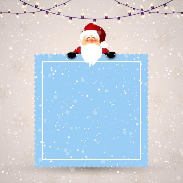 وکتور آماده دانلود کریسمس برفی و بابانوئل