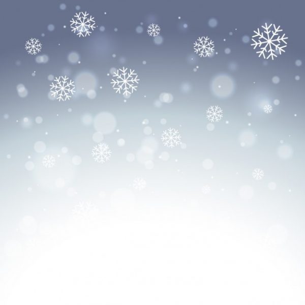 وکتور آماده دانلود بارش دانه های برف زیبا
