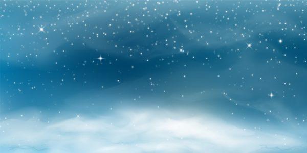 فایل psd وکتور بارش برف منظره زمستانی