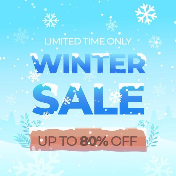 فایل psd وکتور طرح فروش زمستانی