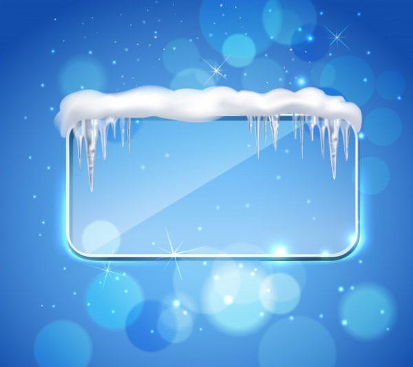 وکتور آماده دانلود قالب یخی و برف و قندیل