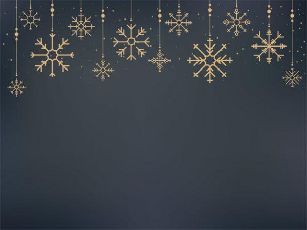 فایل psd وکتور نمادهای دانه برف زیبا