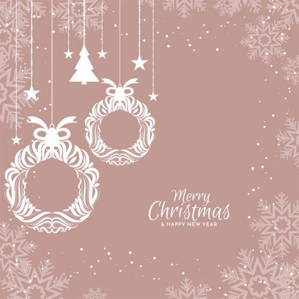 فایل آماده دانلود وکتور تبریک کریسمس و سال نو با تم برف و درخت کریسمس