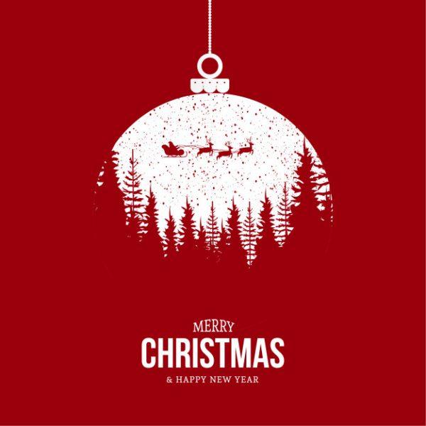 فایل psd وکتور کریسمس مبارک با طراحی مدرن