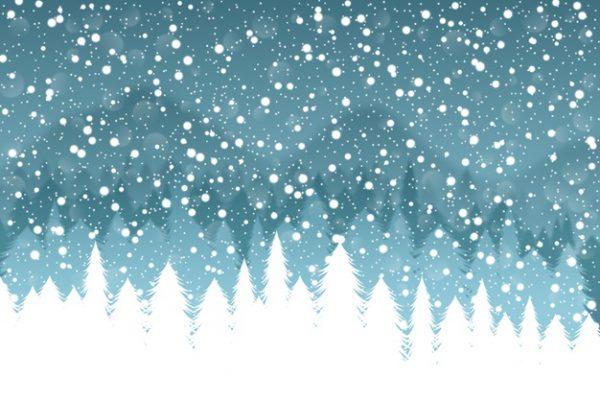 فایل آماده دانلود وکتور پس زمینه بارش برف در جنگل
