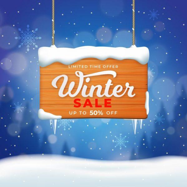 فایل psd وکتور فروش با تخفیف ویژه فصل زمستان