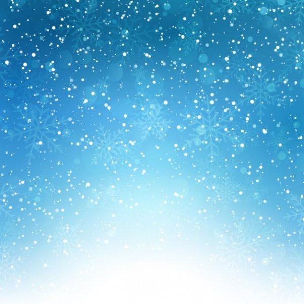 وکتور آماده دانلود بارش دانه های برف زمینه آبی