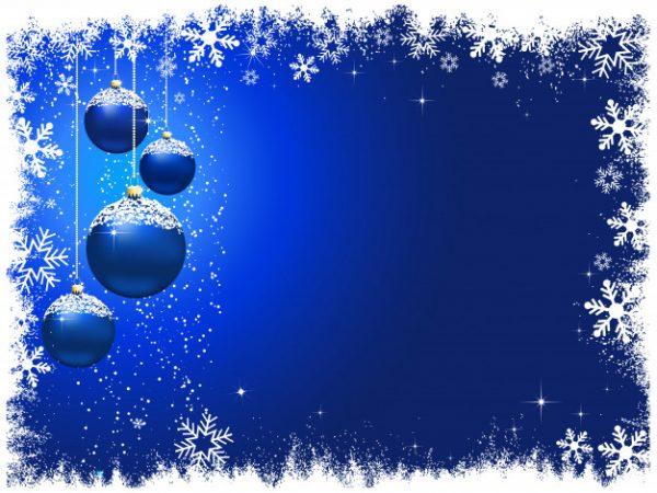 وکتور آماده دانلود حبابهای تزئینی آویز آبی برفی