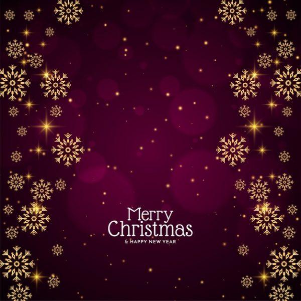 فایل psd وکتور دانه های برف تزئینی شیک کریسمس مبارک