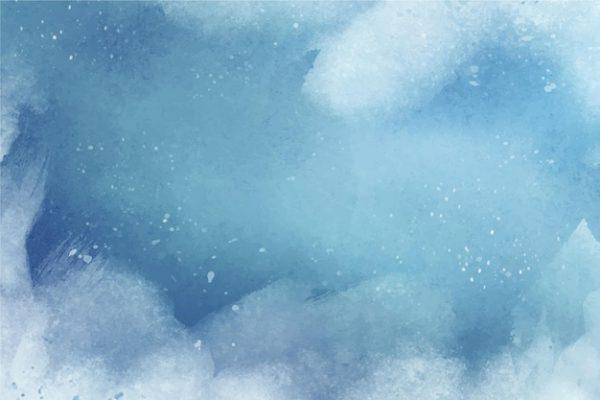 طرح لایه باز وکتور پس زمینه زمستان آبرنگ