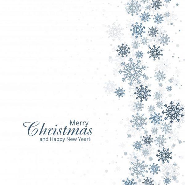 وکتور آماده دانلود پس زمینه زمستانی با دانه های برف کارت تبریک کریسمس