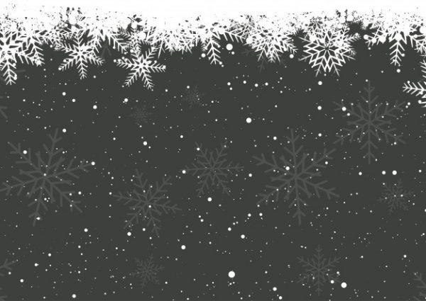 طرح وکتور آماده دانلود دانه های برف زمستانی