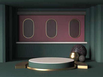 تصویر سه بعدی صحنه نمایش