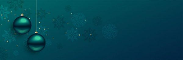 وکتور آماده دانلود بنر زیبای توپ های کریسمس با فضای متن