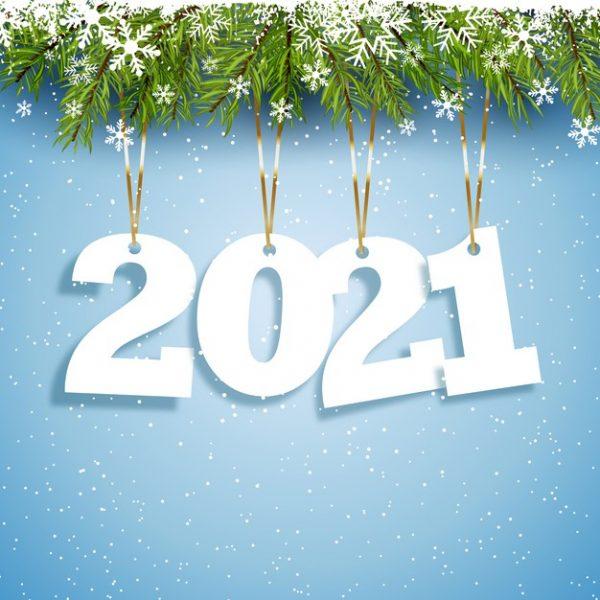 فایل آماده دانلود وکتور پیش زمینه سال نو مبارک با طراحی اعداد آویز
