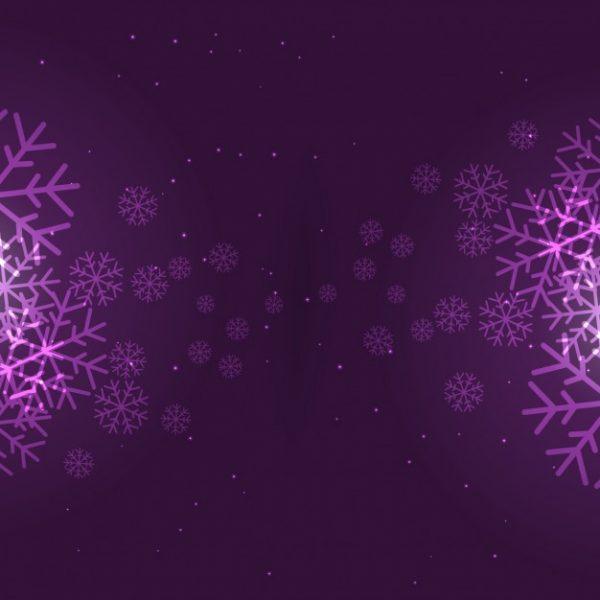 فایل آماده دانلود وکتور دانه های برف زمینه بنفش