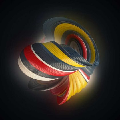 تصویر سه بعدی رقص رنگ ها