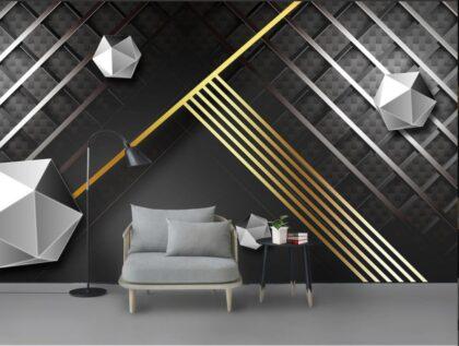 دانلود کاغذ دیواری طرح انتزاعی خط سه بعدی