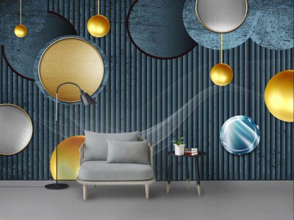 کاغذ دیواری دیوار مدرن انتزاعی