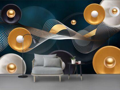 دانلود کاغذ دیواری مدرن استریو ۳D